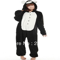 Performance Kigurumi Pajamas Animal halloween Cosplay Costume Fleece small black Pig cartoon sleepwear Free shipping  0933-3