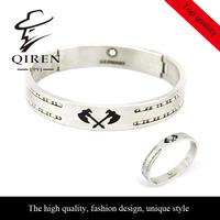 Fashion Origianl Brand Bangle Cross Axe Stainless Steel Men Bangle QR-85 , No Limited Order