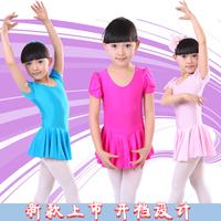 Kids Child dancing clothes leotard ballet skirt one piece girls children's long-sleeve short-sleeve