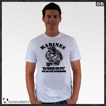 MARINES Marine Corps men short sleeve T-shirt cotton Lycra top new arrival Fashion Brand t shirt for men 2013 summer