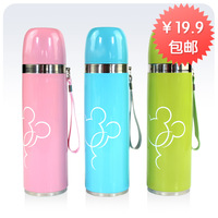 Free shipping Vacuum cup vacuum stainless steel spaghetti strap glass male women's child water bottle office cup