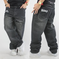 Trend men's clothing fashionable loose casual personality hiphop hip-hop rhino water wash skateboard pants hiphop jeans