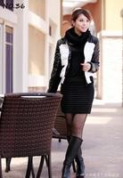 New Arrived Wholesale Price Women jackets Winter Jacket & Neckerchief Collar Snow Wears Long Sleeve Dress Water Proof Coats