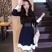 Mushroom women one-piece dress 2013 autumn clothing clothes