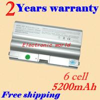 Silver laptop battery forSONY VGP-BPL8 VGP-BPL8A VGP-BPS8 VGP-BPS8A VGP-BPS8B VAIO VGC-LB15 VAIO VGC-LB15 VGN-FZ11M VGN-FZ130E/B