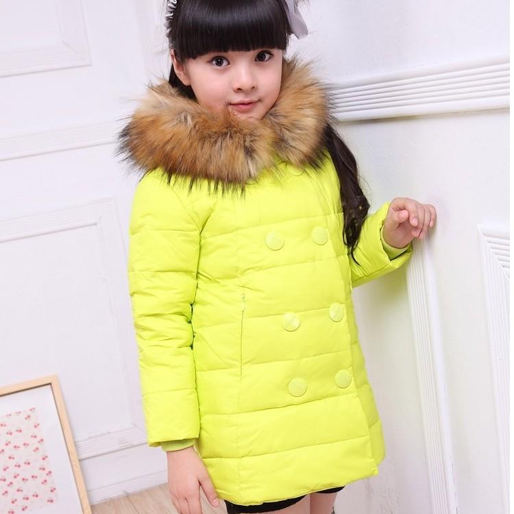 Пуховик для девочек 1 PC NEW Fashion Children Kids Coat Jacket Girls Down Parkas Winter Warm Outerwear HOT Selling TT5300