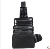Cross body shoulder bag genuine leather bag chest pack male small shoulder bag light man bag small fresh 8605-1