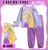 2014 New Style Halloween Princess Cartoon Kids Pajamas 100% Cotton Autumn Clothing Set Wholesale Free Shipping PJ30810-54