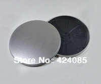 FREE SHIPPING 5 PCs Metal Tin Round CD DVD Disc Box Cover Case Bag Silver Color
