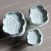 Free shipping,Plastic Rose Plunger Cookie Mold ,Cake Decorating Tools,Cake Molds