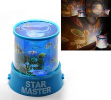 "1PC Ocean Fish Sea Expert LED Night Light Projector 11.5cmx11cm(4 4/8""x4 3/8"")(China (Mainland))"