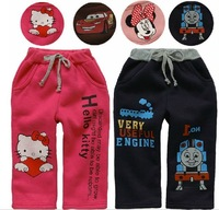 2013 New winter all-match children's clothing girls' plus velvet thickening thermal leggings trousers k-13 free shipping