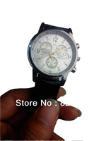 Free shipping new products2013 successful electronic quartz watches men automatic clock, three colors optional leather strap