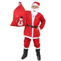 Christmas gift clothes santa claus clothes christmas clothing clothes 5 piece set