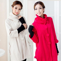 Maternity clothing maternity outerwear trench autumn and winter fashion 2013 top maternity wadded jacket plus size female