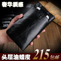Male wallet male long design genuine leather wallet cowhide mobile phone zipper clutch bag male s657