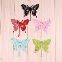 free shipping min.order 3pcs  butterfly decoration iron door home wall muons after rustic coat hooks clothes hanging hook
