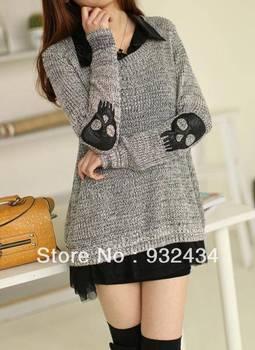 Fall 2013 new IT act as purchasing agency in Hong Kong, skulls, han edition sweater chiffon