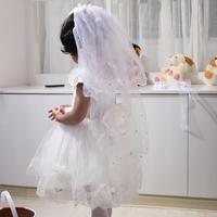 Kids bow hair accessory princess flower girl formal dress accessories comb girls kids wedding veil hair bands  free shipping