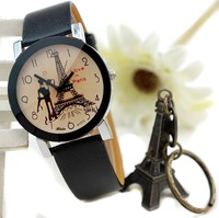 The Eiffel Tower in Paris lovers wrist skin with fashionable watch the clock - 64575
