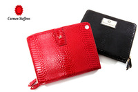 For ipad protective case carmen steffens 100% leather sets ipad3 set genuine leather day clutch