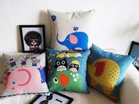 Free shipping Vintage cartoon pillow kaozhen cushion sofa cushion lumbar pillow core