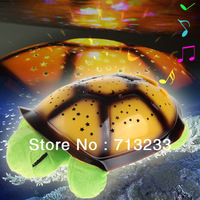 MUSIC play +USB cable best quality Turtle Star night Sky Constellation projector Lamp Kid Baby Sleep Night Light with retail box
