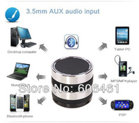 Wireless Bluetooth Super BASS Speaker & FM Radio, With Micro SD slot For iPhone 5S 5C 4S / iPad & 50PCS DHL Free Shipping