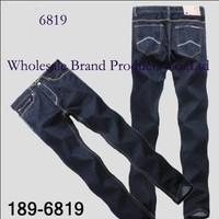 189 AX6819 -6821  Famous Named  Zipper Fly Mid Regular Denim Cotton Jeans Men  Free Shipping!