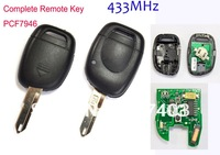 1 Button Renault Remote Key 433MHz PCF7946 Chip Car Smart Keyless Entry Fob
