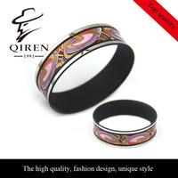 High Quality Colorfull Enamel Original Design For Women Bangle Black Bangle QR-101