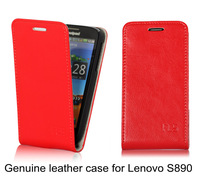 New guaranteed 100% Genuine leather case for Lenovo S890 Flip leather cover shell for Lenovo S890