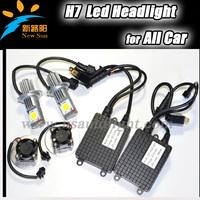 NEW Car H7 Cree LED 6000K Xenon Super White Head Light Headlight Bulbs Lamp or Daytime Running Lights Lighting DRL 12V Cree led