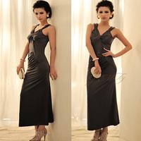 Free shipping Fashion sexy fish tail elegant style elegant spaghetti strap full dress formal dress one-piece dress