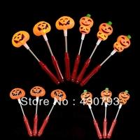 Free Shipping Wholesale Halloween Christmas Pumpkin Light Stick,Skull Lamp Stick,Horror Props,Children's light Gift  1pack/10pcs