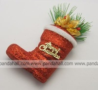 Cristo Messa X'mas Christmas Decorations,  Foam,  Shoes,  Red,  Size: about 8.5cm wide,  14.5cm long