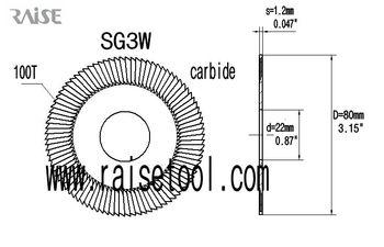 RAISE tools!SG3W carbide side milling cutters for SILCA OPERA III,OPERA IV,TARGA 2000,TECH 3,TECHNICA key machine