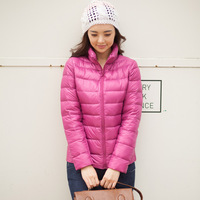 2013 women's  lightweight design stand collar short down coat outerwear oversize