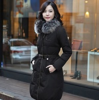 Female  medium-long down coat lady  casual slim thick outerwear