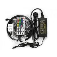RGB SMD 5050 Led Strip Waterproof 5M 300 LED,60leds/m +44 keys IR Remote+12V 5A Power Adapter Free Shipping Warm/Cool White