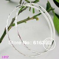 60mm Big Circle Earrings Silver Plated Basketball Wives Earrings