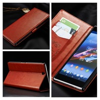 Lastest The with Stent function Flip Cover leather Case For Sony Xperia Z Ultra XL39h Free Shipping,MOQ:5PCS,B0174