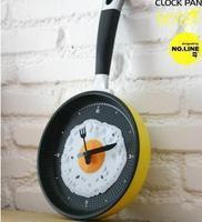 Omelette pan wall clock black forest cuckoo clock wall clock natural
