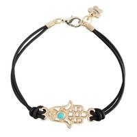 Min order $15 (Can Mix Item)  Gold Hamsa hand knitted  bracelet, 5 color hamsa charm bracelet