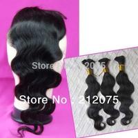 "4pcs MIX Lenght 10-24""inch Brazilian Virgin Hair 1pcs Lace Top Closure 4x3.5""+3pcs Bulk body wave hair extensions can be dyed"