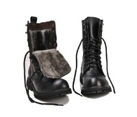 Lovers design winter warm  motorcycle martin male genuine leather cotton boots leather boots C93008