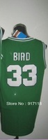 Free Shipping,#33 Larry Bird Basketball Jersey,Top quality Sports Jersey,Embroidery logos,Size 44-56,Can Mix Order