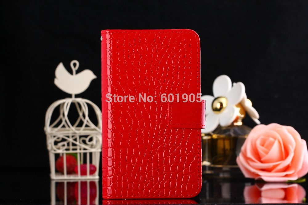 free shipping Luxury leather case for samsung Omnia 7,The crocodile grain Flip cover with card holder phone bags for i8700(China (Mainland))