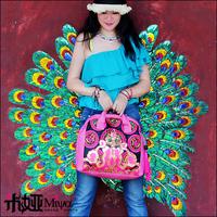 Handmade Embroidery Woman Bag Handbag Fashion Casual PU Bag Bohemia Style Bag Pink