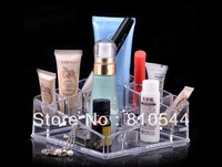 Free Shipping 2013 New High Quality Transparent Acrylic Corner Organiser Cosmetic Organizer